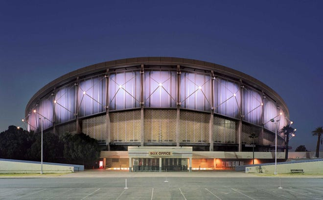 Veterans Memorial Coliseum, near 19th Avenue and McDowell Road, was constructed on the Arizona state fairgrounds and became the first home of the Phoenix Suns.