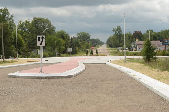 A roundabout at the I-94 exit, Dove and Range roads is scheduled to reopen Sept. 9, according to a news release by the St. Clair County Road Commission.