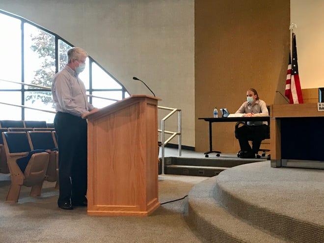 Port Huron Planning Director David Haynes speaks at the Port Huron Planning Commission meeting on Sept. 1, 2020.