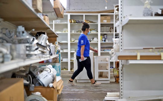 Esperanza Venzor works at the Habitat for Humanity Restore in downtown San Angelo on Wednesday, Sept. 2, 2020.
