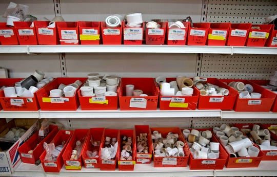 Products line the shelves at the Habitat for Humanity Restore in San Angelo on Wednesday, Sept. 2, 2020.