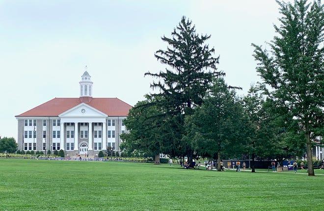 Photograph taken of James Madison University campus on Tuesday, Sept. 1, 2020.