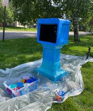 Colorfully painted newspaper-style boxes will be popping up throughout the community after Labor Day to give kids free access to art supplies and STEM kits.