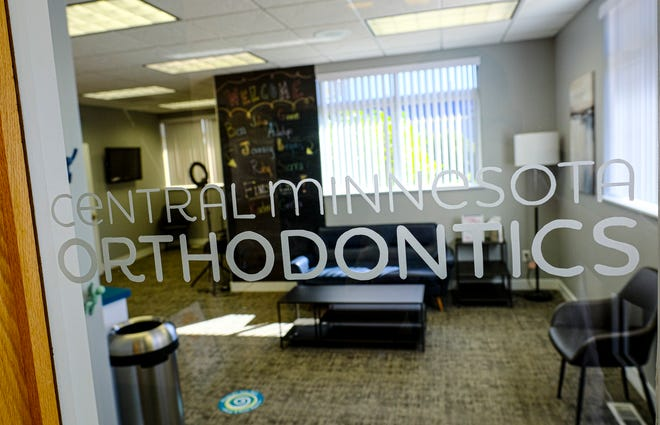 The lobby area greets patients at the entrance Wednesday, Sept. 2, 2020, to Central Minnesota Orthodontics in Sartell.
