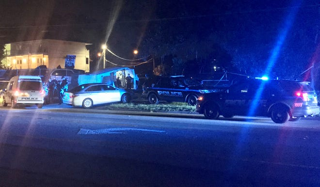 The Tallahassee Police Department responds Tuesday, Sept. 1, to Discount Tire and Auto Repair, 2105 Lake Bradford Road. TPD announced Sept. 10 that a man initially believed to have died in an accident had been shot.