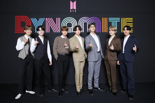 """BTS participate in """"Dynamite"""" online global media day."""
