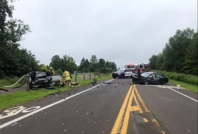 A Landsdale man was killed after a head-on crash on Route 202 in Warrington on Wednesday.