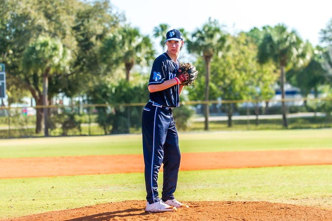 North Penn junior pitcher Dylan Brown has given a verbal commitment to attend and play at Notre Dame. [CONTRIBUTED/CONNIE LEE]