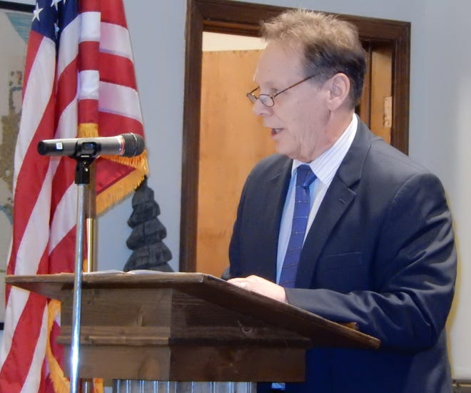 Silver Lake Mayor Bernie Hovey delivers his State of the Village address in 2019. The village has received $165,212 in COVID-19 relief money, much of which will be spent on upgrading technology so that village hall employees can telework.