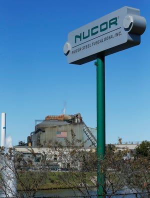 Nucor Steel on Jack Warner Parkway in Tuscaloosa, Ala. on Oct. 24, 2014.