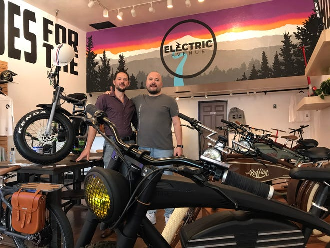 "Brothers Hakan ""Hawk"" and John Hekimoglu recently opened Electric Avenue, a specialty e-bike and scooter shop, in Eugene."