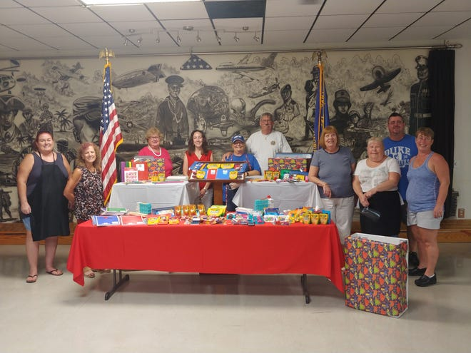 The Veterans of Foreign Wars Auxiliary Post 2391 recently collected school supplies for children in need.