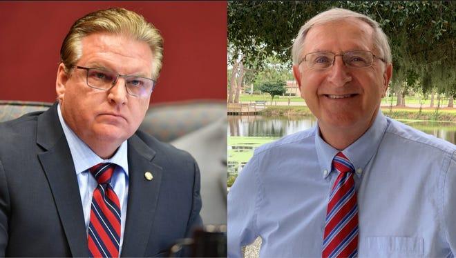 Republican incumbent Mike Moran, left, and Democrat Mark Pienkos.