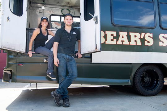 """Cheryl Antoncic and her son, Collyn McDonald, are renovating their future Bear's Smokehouse Barbecue at the site of a future permanent location on the South Slope. The restaurant, which already had locations in Connecticut, will serve us Kansas City style barbecue. Antoncic said about the move to the mountains that Asheville has the values she was looking for when it comes to supporting local businesses and community. """"I love it here so why not move here,"""" she said."""