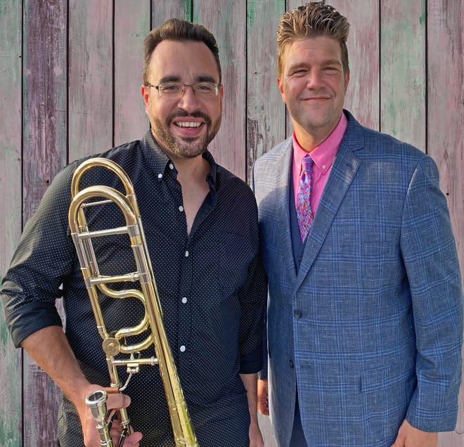 "Space Coast Symphony principal trombonist Alexis Regazzi joins conductor Aaron Collins and the Orchestra as a featured performer in ""Fan Favorites Redux,"" a duo of outdoor concerts."