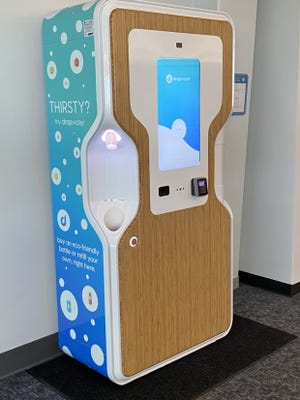 CVG has installed two new Drop Water stations where people can fill their own water bottles or purchase a drink in a 100-percent compostable container.