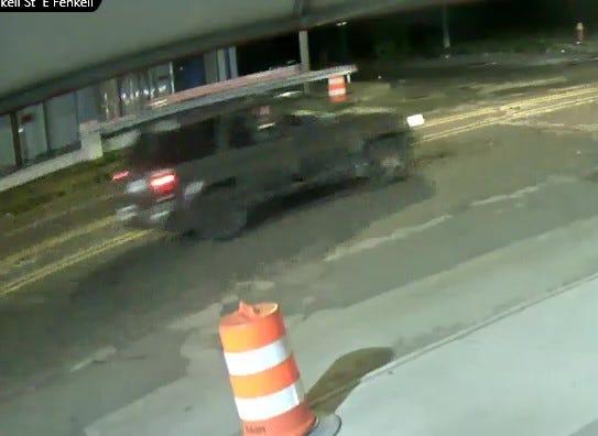The SUV was captured on camera near the scene.