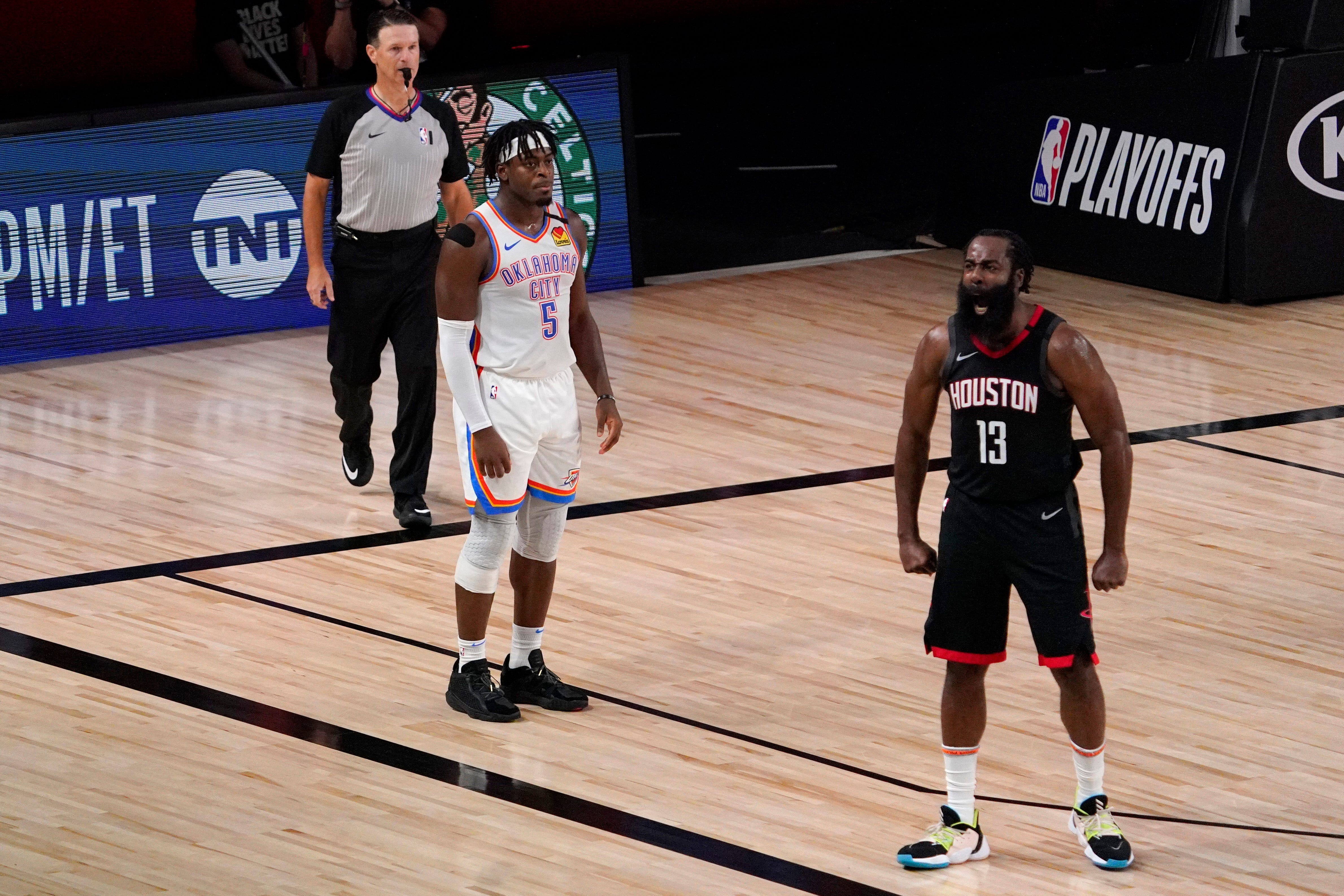 Wednesday S Nba Playoffs Rockets Outlast Thunder In Game 7 Advance To Face Lakers