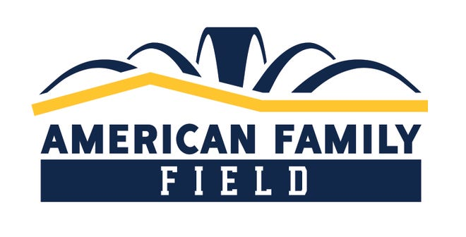 The new logo for American Family Field was unveiled Sept. 3, 2020.