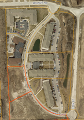 Walnut Glen affordable apartments are planned for the site outlined in red.
