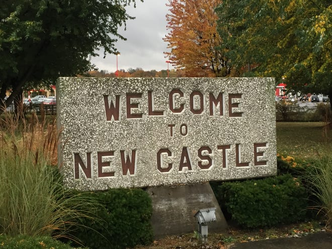 A sign welcoming visitors to New Castle, Ind.