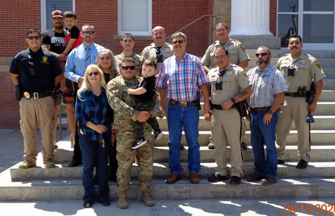 The Luna County Sheriff's Office welcomed back two of its own, deputies James McBurney and David Sias. The two deputies also serve in the U.S. Army National Guard and have returned from a military deployment in Djibouti, Africa (Camp Lemonnier). Deputies McBurney and Sias were deployed back in September of 2019. Luna County Sheriff Kelly Gannaway and the LCSO is extremely happy to have them back home and safe. The deputies were welcomed back with a small parade made possible by friends and family in appreciation of their hard work, dedication and service to their country.