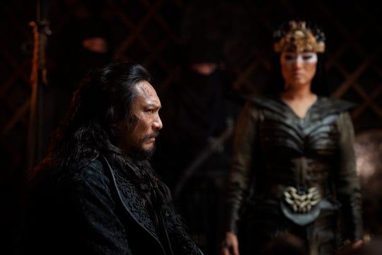 Böri Khan (Jason Scott Lee) and Xian Lang (Gong Li) form an uneasy villain alliance.