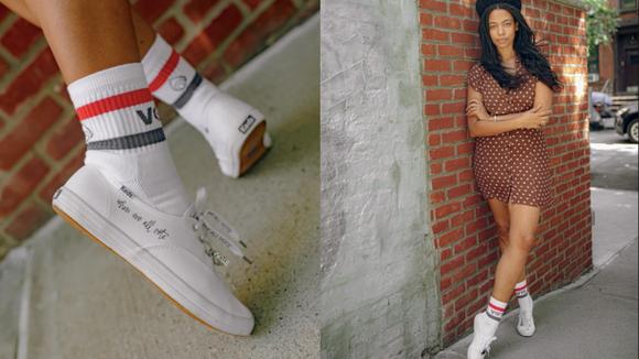 A subtle message on each sneaker.
