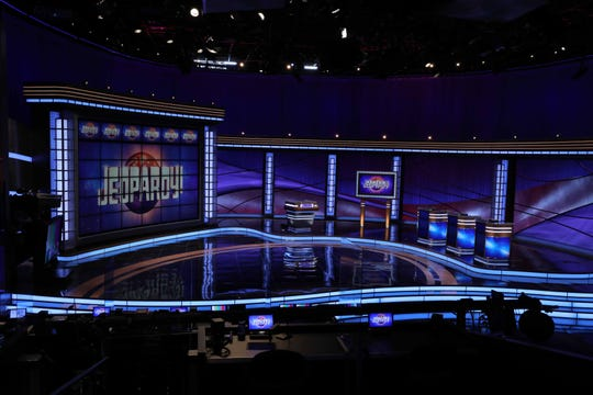 "The ""Jeopardy!"" set for the new season that begins airing Sept. 14, 2020."