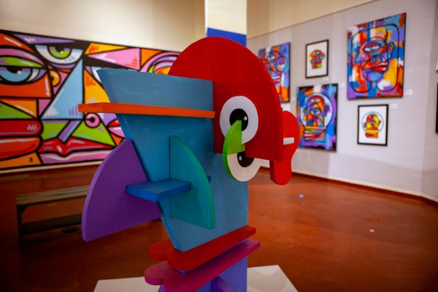 """Oklahoma artist John Hammer's """"Tattered Aesthetics & Peculiar Portrayals"""" exhibition at Price Tower has been extended through Oct. 4. Courtesy"""
