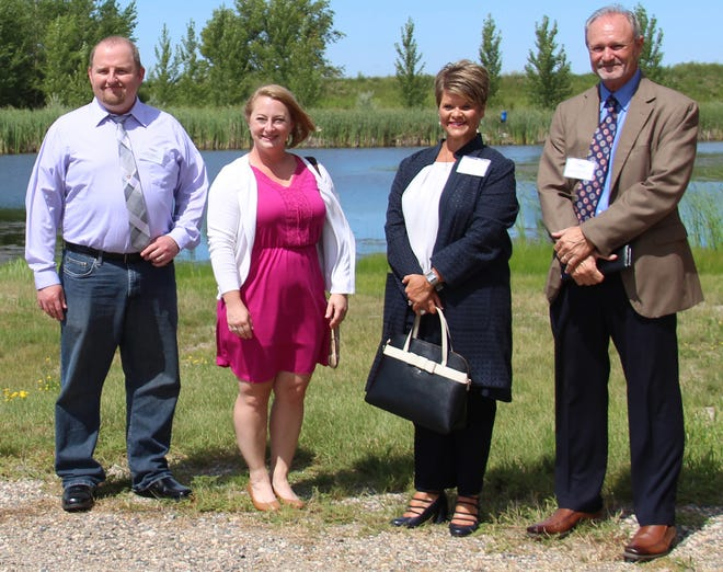 Amy Finch, second from left, is pictured with the other finalists for City of Crookston administrator during a tour of the community in August.