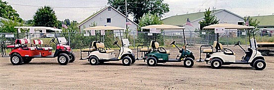 Wayne County Fair shuttle golf carts help senior citizens and those with mobility issues.