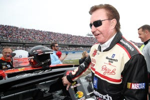 Richard Childress prepares to drive on track before the Monster Energy NASCAR Cup Series 1000Bulbs.com 500 at Talladega Superspeedway on October 13, 2019 in Talladega, Alabama.
