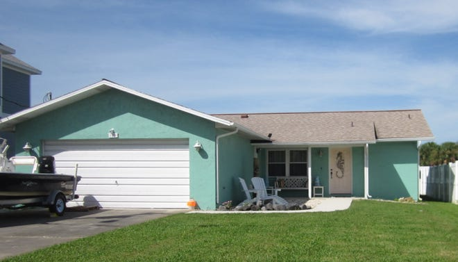 This home on North Flagler Avenue in Flagler Beach was built in 1984 on the Intracoastal Waterway and updated. It has two bedrooms and 2 1/2 baths in 1,220 square feet of living space, and it also has a dock and a Florida room. It sold recently for $360,000.