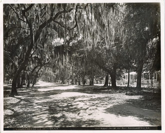 In 1901, Daytona Beach's Ridgewood Avenue was a peaceful unpaved path flanked by homes and hotels.