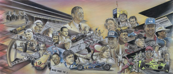 Alex Wakefield, a native of Middletown and a graduate of Danville High School, designed the cover of the 2020 Indianapolis 500 program.