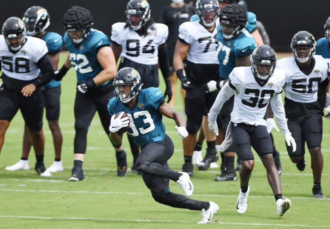 Devine Ozigbo and the rest of the Jaguars running backs will need to account for more than three touchdowns on the ground for the team to improve on last season's offensive production.