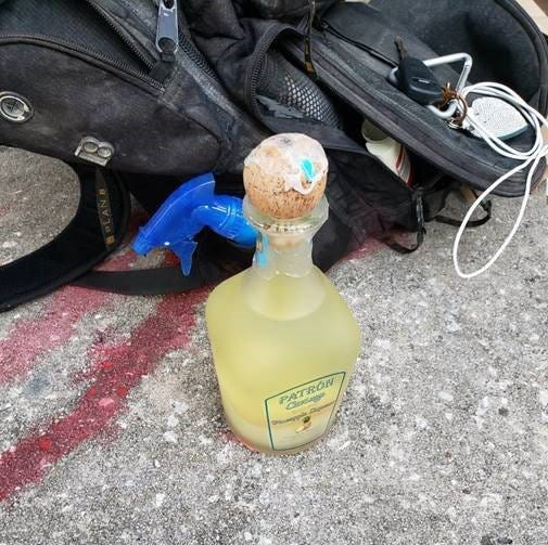 This is the Molotov cocktail — an improvised explosive device — Ivan Zecher was accused of having in his backpack during a May 31 protest in downtown Jacksonville. Demonstrators were demanding an end to police brutality. However, a federal judge has dismissed the indictment.
