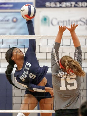Victory Christian's Damyah Joyner, a senior right-side hitter, was third in the county in kills (255) and second on her team in digs (174) last season while playing for Ridge Community.