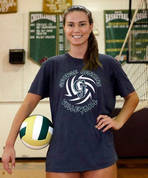 George Jenkins middle hitter Lilly Beardsley, a junior, emerged as a top player during her sophomore season last year and was The Ledger's 2019 player of the year.