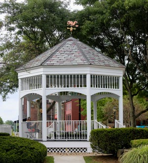 The gazebo on the corner of Franklin Avenue and Main Street in Downtown Kent was recently refurbished.