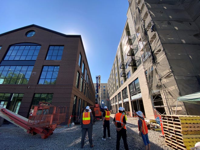 """Well in the works in downtown Eugene's 5th Street Public Market District is """"The District,"""" a new co-working and flex office space."""
