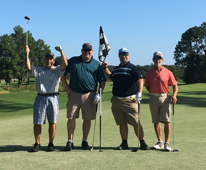 Members of the St. Johns County Sheriff's Office golf team were the tournament's low-net winners.