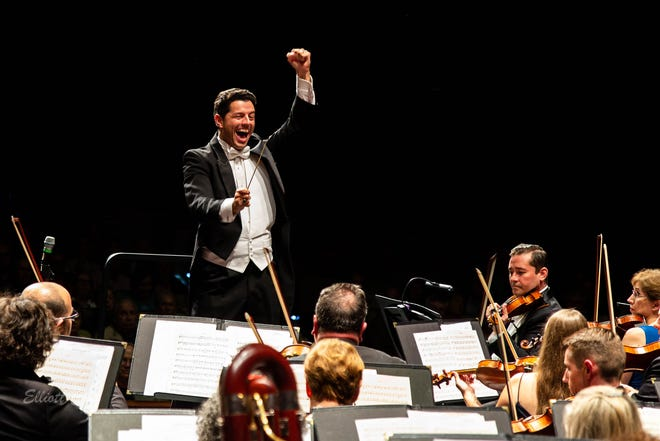Music Director Troy Quinn leading The Venice Symphony. The orchestra has announced it will postpone most of its 2020-21 season because of the coronavirus.