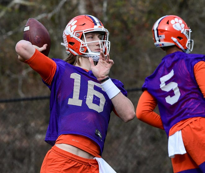 Clemson quarterback Trevor Lawrence was selected ACC Preseason Player of the Year in a league poll released Friday, and his Tigers were the top pick to win the conference title. Lawrence was a runaway choice, garnering 100 votes to outdistance teammate Travis Etienne (30 votes), who has won the honor the last two seasons.