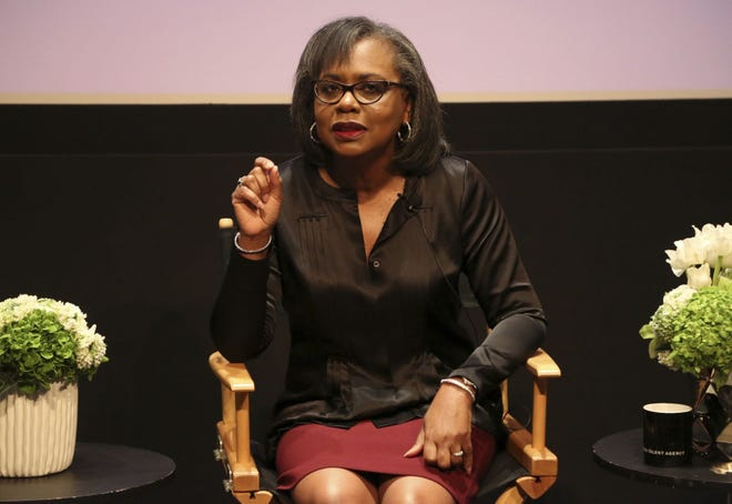 Anita Hill speaks at a discussion in 2017 about sexual harassment and how to create lasting change from the scandal roiling Hollywood at United Talent Agency in Beverly Hills, Calif. [The Associated Press]