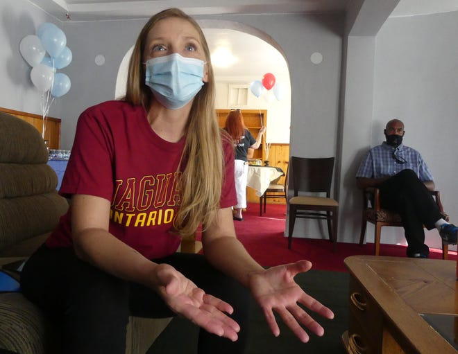 Barstow Community College student Carrie Halcovich, 39, is no longer homeless thanks to a partnership between BCC and New Hope Village in Barstow.
