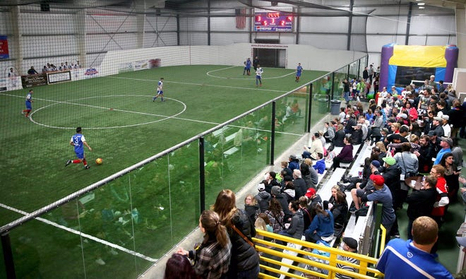 FILE — The Olympic Soccer Center has been closed to its usual games and practices since March. After reopening to allow some league play last week, which defied the state's COVID-19 restrictions, the center said it's modifying its operations to be in line with the state's rules.