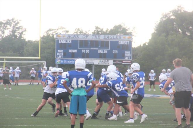 Scott High School football practice. September 3, 2020. Taylor Mill, Ky.