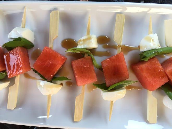Honey-Balsamic Glazed Watermelon Mozzarella Skewers